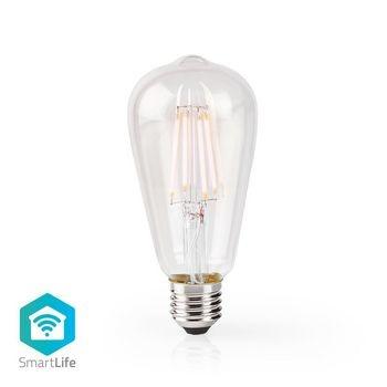 Combina tecnología moderna con un aspecto clásico. Esta lámpara de filamento inteligente se conecta directamente a su enrutador inalámbrico / Wi-Fi para control remoto como parte de su sistema de automatización del hogar. Fácil de instalar No tiene que se