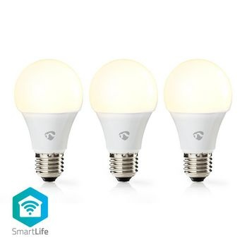 Wi-Fi Smart LED Lampe | Blanc chaud | E27 | Paquet de 3