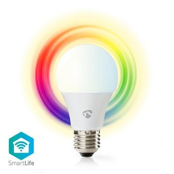 Lampe LED intelligente Wi-Fi | En couleur et blanc chaud | E27