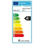 Nedis Wi-Fi smart LED-lamp | Full-Colour en Warm-Wit | E27