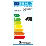 Nedis Lampade a LED intelligenti Wi-Fi Colore pieno e bianco caldo | E27 | 2-Pack