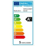 Nedis Lâmpada LED inteligente Wi-Fi | Colorido e Branco Quente | GU10