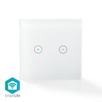 Os interruptores de luz tradicionais tornaram-se muito mais inteligentes. Este interruptor inteligente de luz de parede para lâmpadas duplas permite controlar duas lâmpadas remotamente e automaticamente através de um interruptor de parede discreto. Fácil