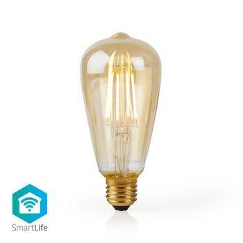 Kombinieren Sie moderne Technologie mit einem klassischen Look mit dieser intelligenten Glühlampe, die als Teil Ihres Hausautomationssystems zur Fernsteuerung direkt an Ihren WLAN-Router angeschlossen werden kann. Einfache Installation Sie müssen kein tec