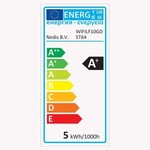 Nedis Lâmpada de filamento LED inteligente Wi-Fi   E27 ST64 5 W   500 lm