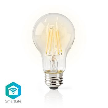 Wi-Fi Smart LED Lampe | Filament E27 | Blanc | A60