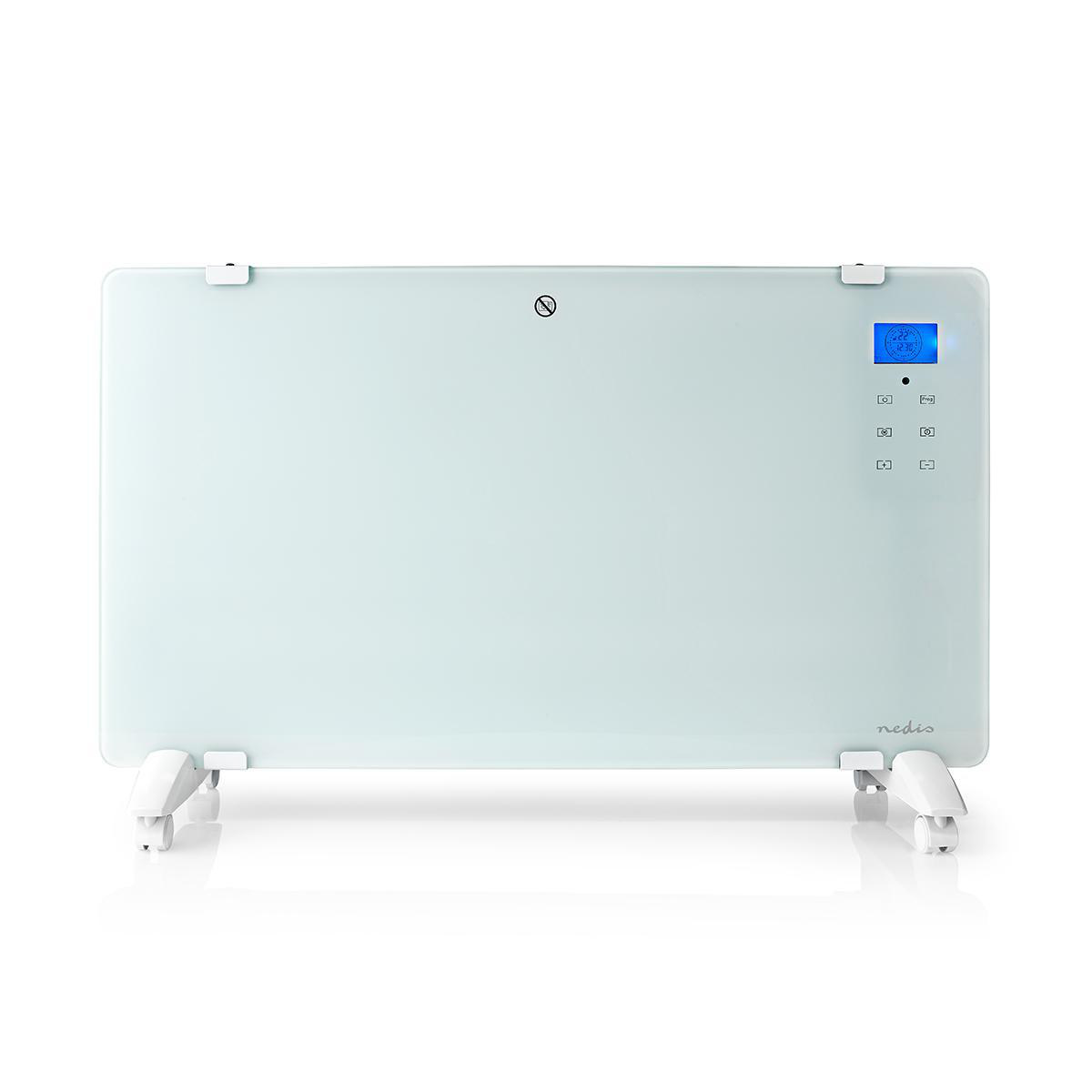 Smart Convector heater with Wi-Fi | Thermostat Glass front panel | 2000 W | White