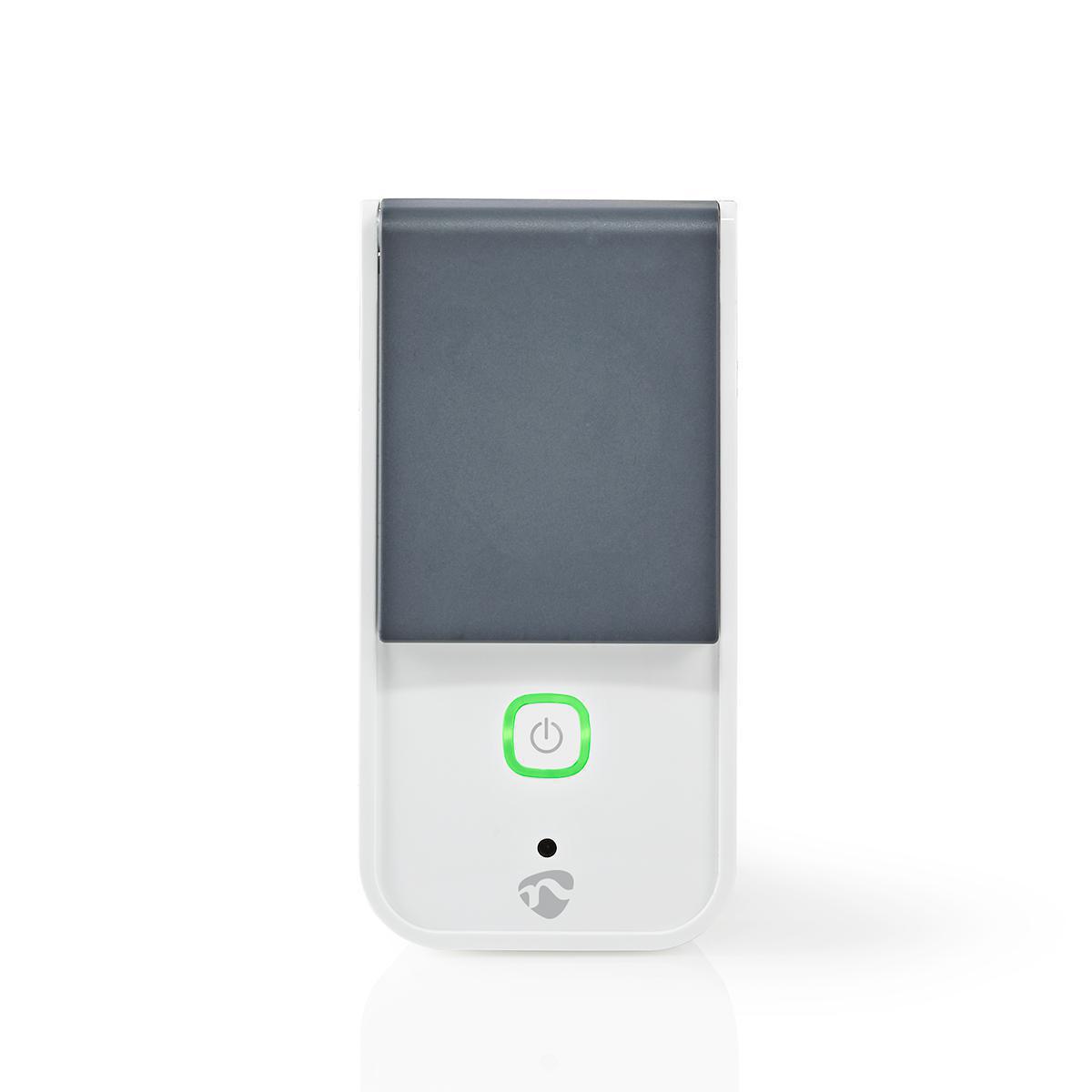 Wi-Fi Smart Plug para Outdoor | Resistente a salpicos | IP44 Monitor de consumo | Schuko tipo F | 16 A