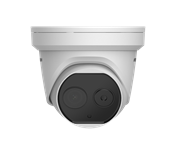 The DS-2TD1217-6 / V1 Hikvision Thermal Network Camera is now also available in a dome version. This new line of Bi-Spectrum dome camera with 6mm lens is equipped with a built-in GPU that supports intelligent behavioral analysis. This innovative thermal &