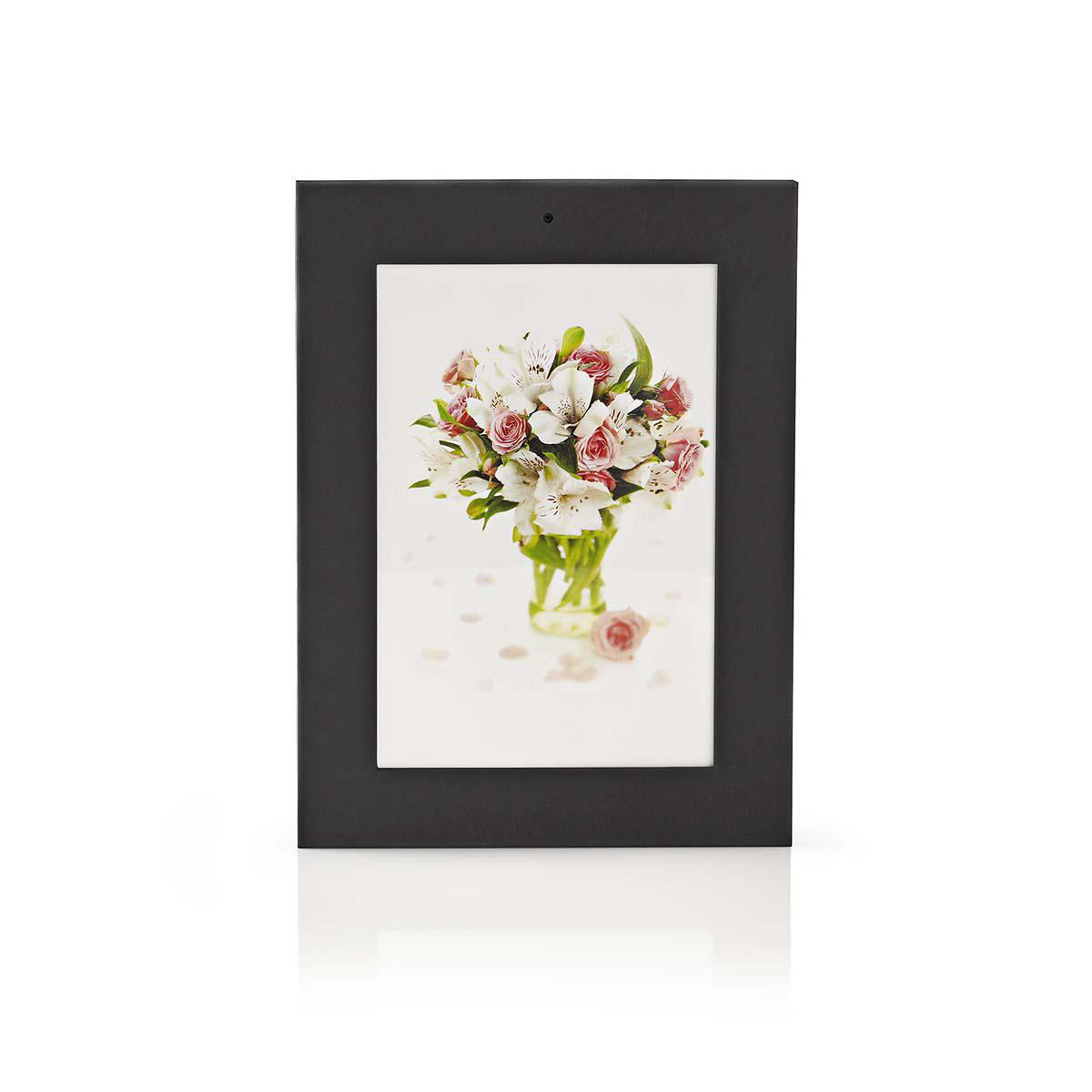 Photo frame with integrated camera | 1280x960 video | 3840x2880 photo | Rechargeable Place this photo frame with hidden camera at a strategic point in your home and keep an eye on your belongings unobtrusively. The images are recorded on a microSD card, s