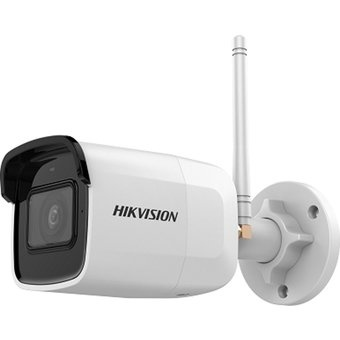 The Hikvision DS-2CD2041G1-IDW1 displays images in a Full HD 2560x1440 resolution. The camera has a built-in automatic IR-cut filter and is therefore a real day / night camera. In dark conditions, the camera can switch on the built-in matrix IR lighting,