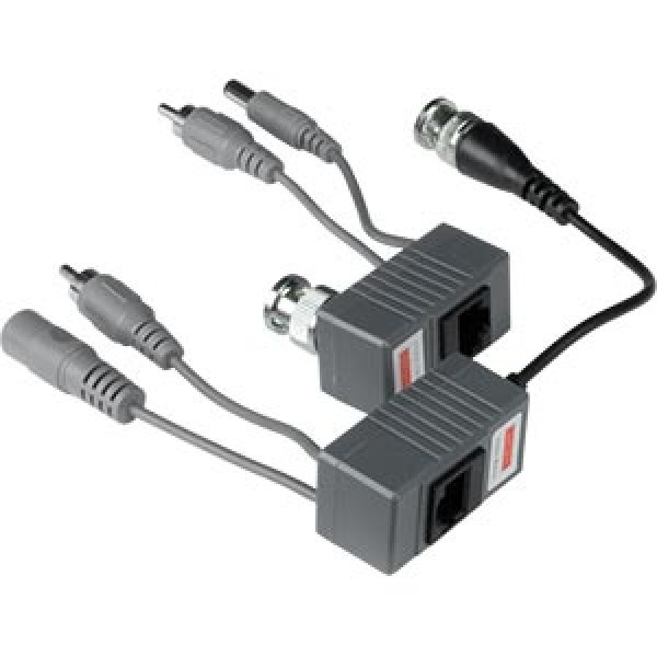 UTP Balun voor video, audio en voeding
