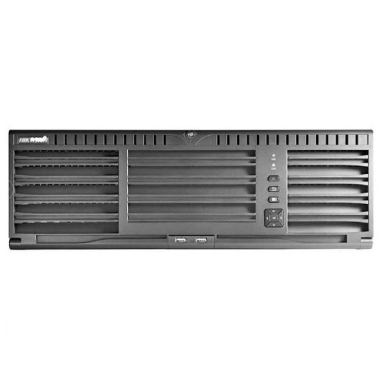 """El Hikvision DS-96128NI-I16 es un NVR 2HE de 19 """"y 128 canales de alta gama. Con este NVR puede administrar y grabar cámaras IP localmente. El NVR está equipado con 16 ranuras para HDD y puede recibir un máximo de 128 cámaras. El NVR está equipado con 2 p"""
