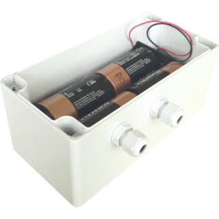 Battery pack in holder