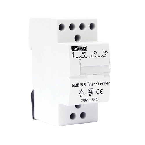 Bell transformer 8V-12V-24V AC, suitable for video doorbells