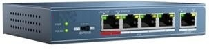 DS-3E0105P-E, 5-port PoE switch (4x PoE and 1x uplink)