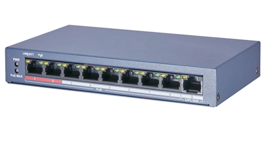These special CCTV switches from the Hikvision factory are designed to optimally set up your network. The CCTV switches are equipped with a built-in range extender, giving you no less than 250m range with your PoE power supply! Supports PoE and PoE + came