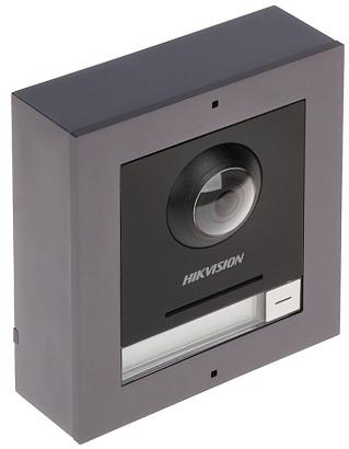 Das Kameramodul der modularen Gegensprechanlage von Hikvision sorgt dafür, dass alles perfekt im Blick ist. Dank der 2MP-Kamera mit WDR ist die Hintergrundbeleuchtung für diese Kamera kein Problem. Dank des Öffnungswinkels von 180 ° gibt es einen guten Üb
