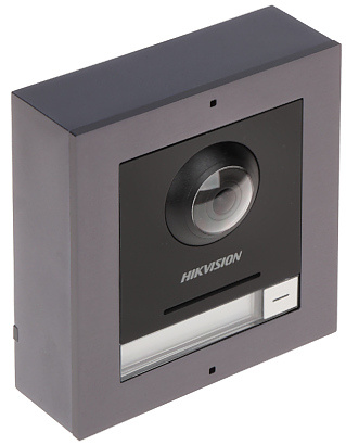 O módulo de câmera do intercomunicador modular Hikvision garante que tudo esteja perfeitamente visível. Graças à câmera de 2 MP com WDR, a luz de fundo não é problema para esta câmera. Graças ao ângulo de abertura de 180 °, é possível ter uma boa visão ge