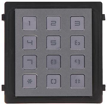 La pestaña de código ofrece la posibilidad de abrir la puerta mediante un código. El módulo se alimenta a través del módulo de la cámara, que a su vez se alimenta a través de PoE.