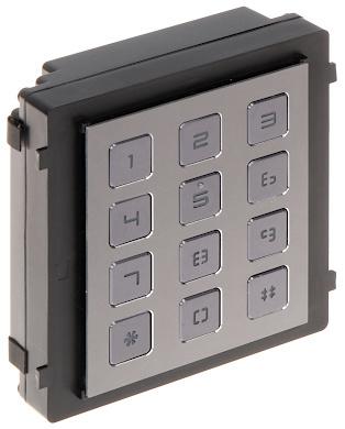Het codetableau geeft de mogelijkheid om via een code de deur te openen. De module wordt gevoed via de cameramodule, welke zelf via PoE gevoed wordt.