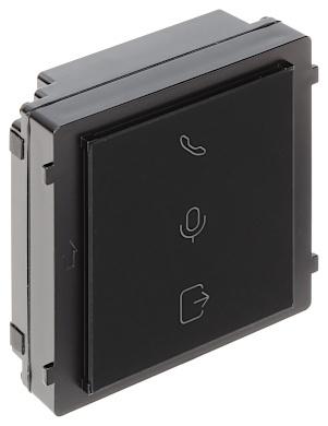 Grâce au module d'indication pratique, le visiteur connaît l'état de l'interphone. Le module indique si une conversation est en cours, s'il y a un appel ou si la porte est envoyée ouverte. Le module est alimenté par le module de caméra, lui-même alimenté