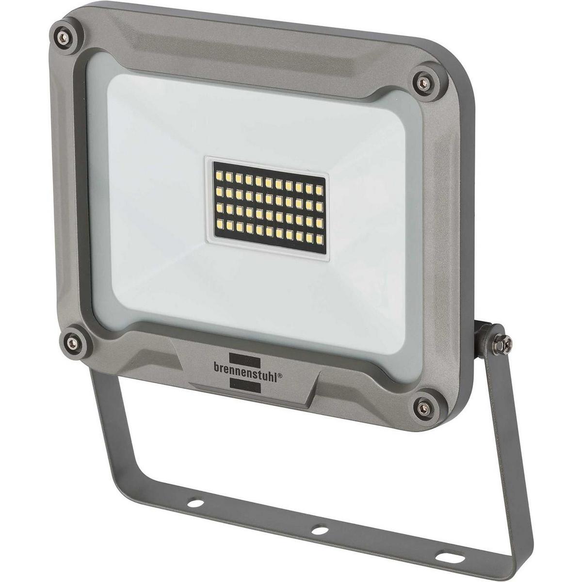 Adecuado para instalación en interiores y exteriores, IP 65. Potente lámpara de 30 WLED con chip para montaje en pared, con distribución de luz extra ancha para iluminar una superficie grande. Ideal para aficionados, talleres y obras de construcción. Entr