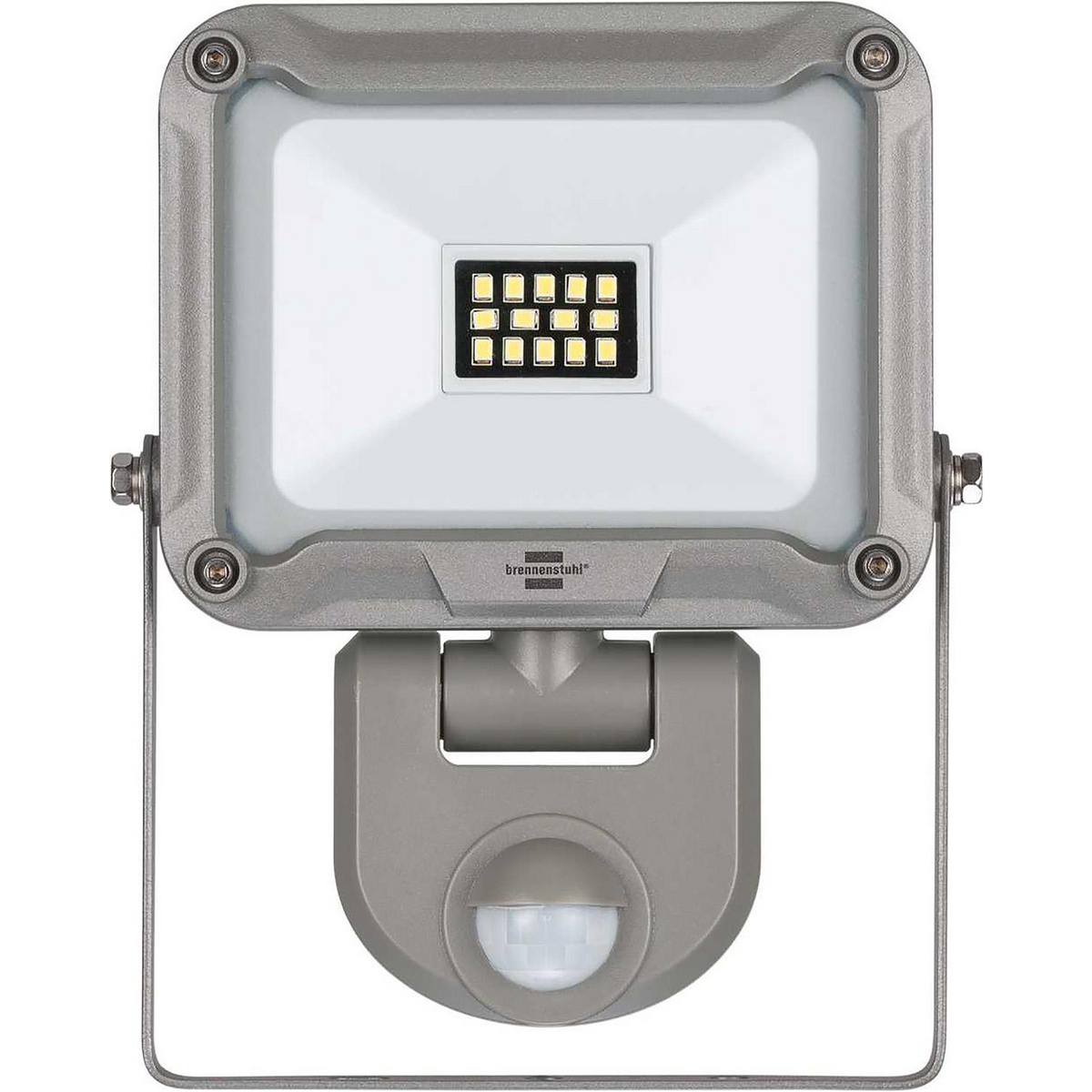 Suitable for indoor and outdoor installation, IP 44. 10 W high-power chip LED light for wall mounting, with extra wide light distribution to illuminate a large area. Ideal for hobbyists, workshops and construction sites. Automatically illuminates entrance