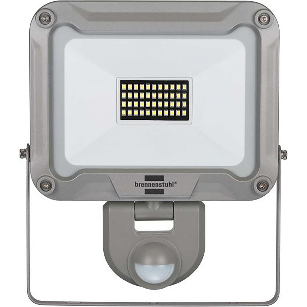 Slim LED spotlight L DN 5630 FL PIR IP 54. For outdoor and indoor mounting, IP 54 LED spotlight with 56 ultra-bright SMS LEDs Ideal for automatic lighting of entrances, driveways or carports, as well as for deterrence against burglary and theft Range: 12