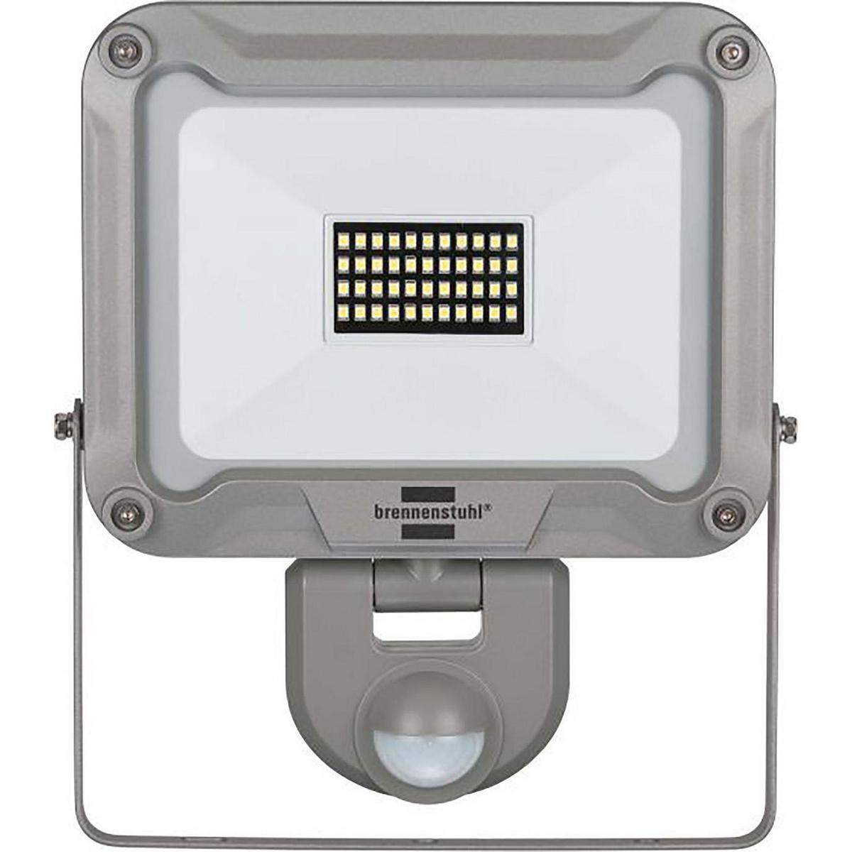 Faretto a LED sottile L DN 5630 FL PIR IP 54. Per montaggio esterno e interno, faretto a LED IP 54 con 56 LED SMS ultra luminosi Ideale per l'illuminazione automatica di ingressi, passi carrai o posti auto coperti, nonché per la deterrenza contro furto co