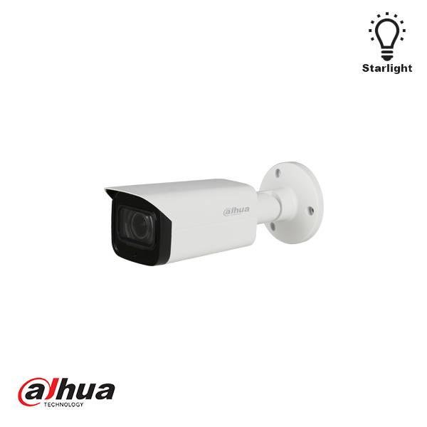 Dahua Starlight motorisierte HD-CVI IR-Kamera 12V 6-22mm Starlight, 120dB echtes WDR, 3DNR max. 30fps @ 1080P HD / SD umschaltbar Audio-In-Schnittstelle, eingebautes Mikrofon 6-22 mm motorisiertes Objektiv max. IR-Länge 80 m, Smart IR IP67, IK10, DC12V ±