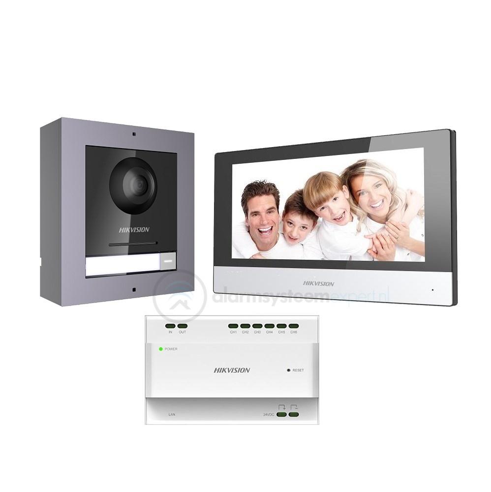 Ideal para substituir o seu intercomunicador de 2 fios com defeito. Use o cabeamento existente para fazer uma atualização na qualidade de imagem e som com este conjunto da Hikvision. O módulo de câmera do intercomunicador modular de 2 fios Hikvision garan