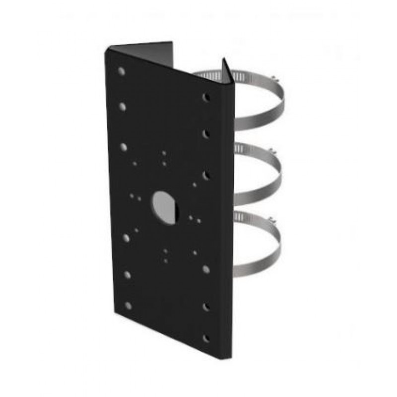 DS-1275ZJ-SUS Black, black pole mounting bracket with clamps, for various wall brackets fixed and PTZ cameras.