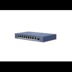 Hikvision DS-3E0510P-E, 10 portas, switch Gigabit, 8x PoE, 1x SFP