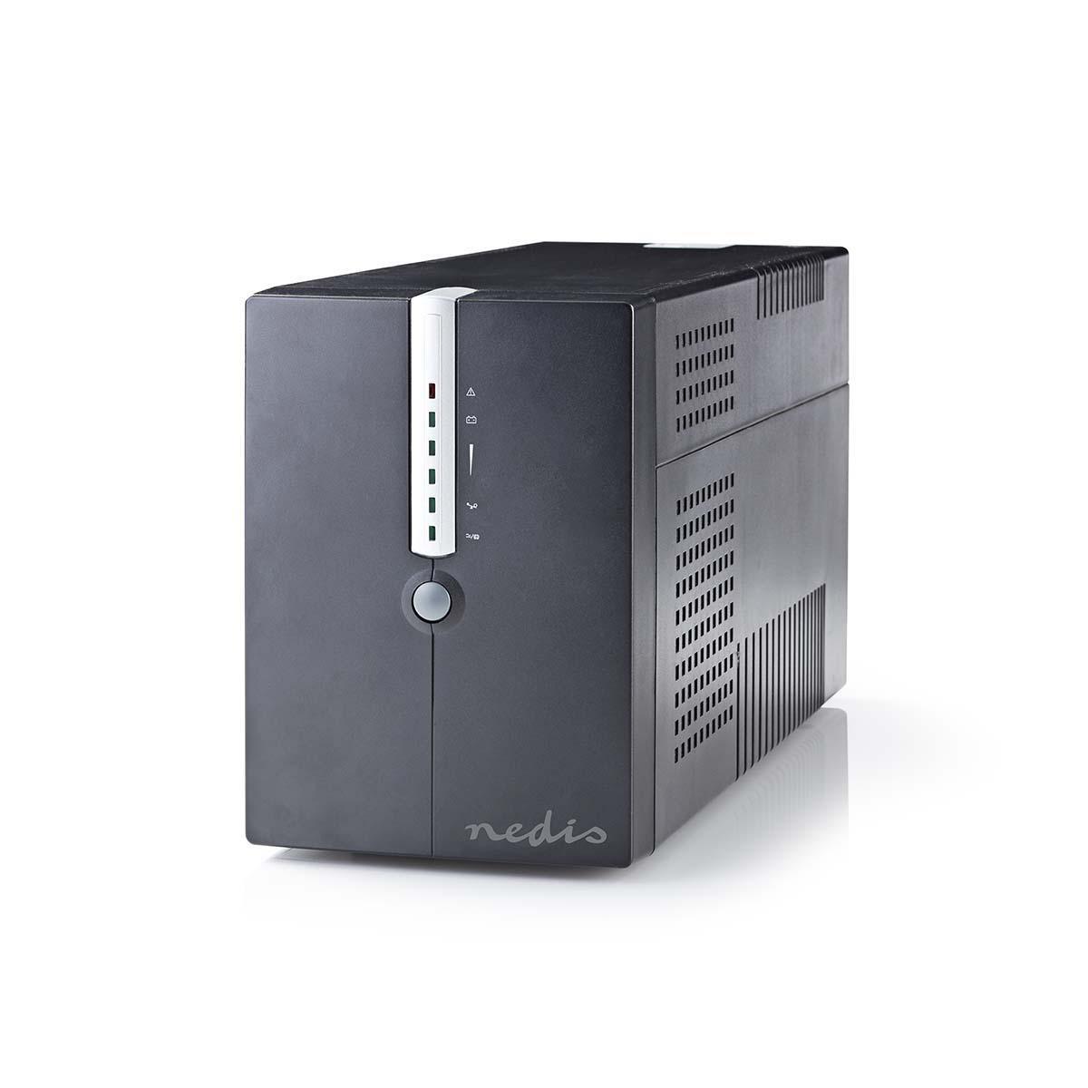 Proteja su valiosa computadora y sus archivos contra cortes de energía y sobretensiones con este potente UPS de 2000 VA. La batería incorporada le da 10 minutos para guardar archivos y apagar la computadora correctamente durante un corte de energía. Con e