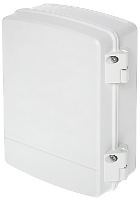 Dahua PFA141 Powerbox without holes, ideal for mounting power supplies, small switches and Powerline in this waterproof outer box. Swivel entry at the bottom for various types of cables. Can also be combined with PFA150 pole bracket for mounting in the ma