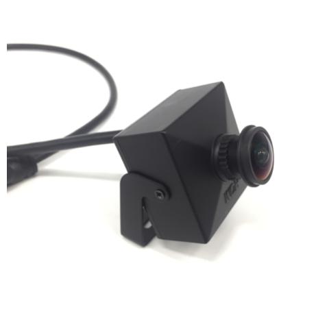 Telecamera IP Pinhole piccola, Full HD, Onvif, PoE, angolo di visione di 160 gradi, obiettivo da 1,7 mm, modello compatto Telecamera IP Pinhole Full HD con PoE, plug and play per il collegamento a un registratore Hikvision con PoE. Angolo di visione di ci