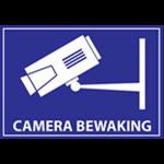 Etiqueta de vigilancia de la cámara