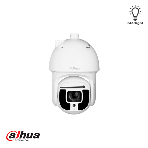 "Dahua SD8A440WA-HNF, 4Mp Network speed dome with IR LEDs 1500, 40x zoom, AI and autotracking, high speed IR economy IP PTZ dome for outdoor use. This ""true day / night"" speed dome is equipped with built-in IR-LEDs with a maximum range of 500m, the intensi"