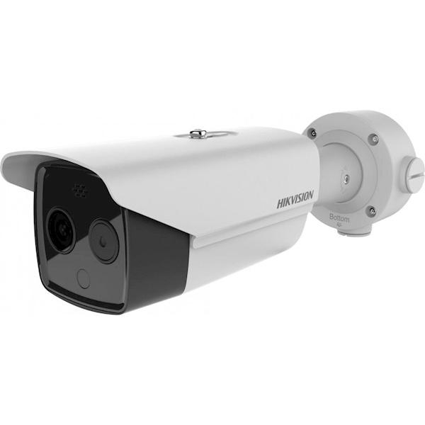 Detecteer gemakkelijk op een veilige afstand temperatuurverhogingen met een Hikvision warmtebeeldcamera bullet!