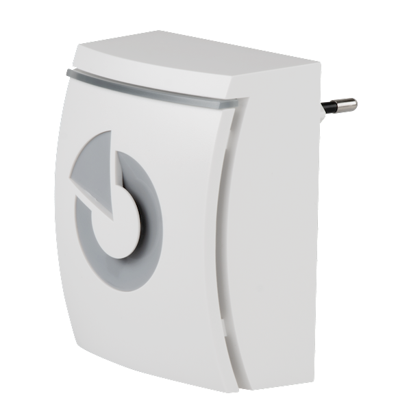 JA-152A Pro, sirene sem fio para tomada. O produto é um dispositivo sem fio para as séries Jablotron 100, 101, 103 e 107. A sirene é projetada para indicar alarmes em um edifício.