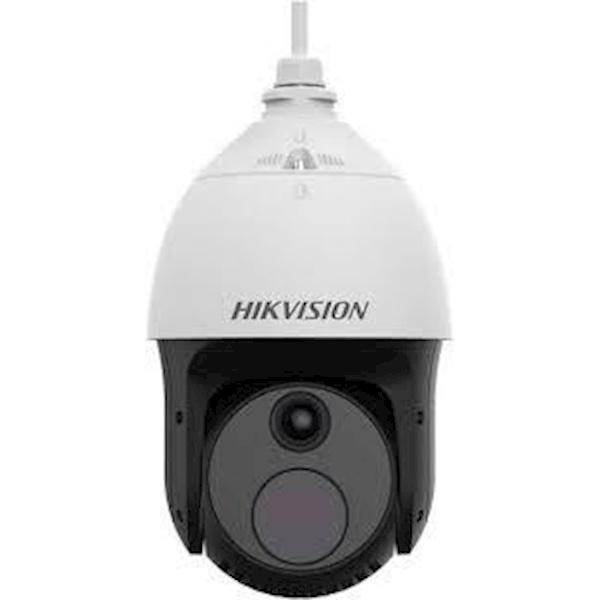 De Hikvision DS-2TD4237-10/V2 Thermische en optische bi-spectrum netwerk speed dome, is uitgerust met een ingebouwde GPU die ondersteuning geeft van intelligent gedragsanalyse-algoritme, en kan daarmee hoge precisie VCA-detectie en realtime alarm realiser