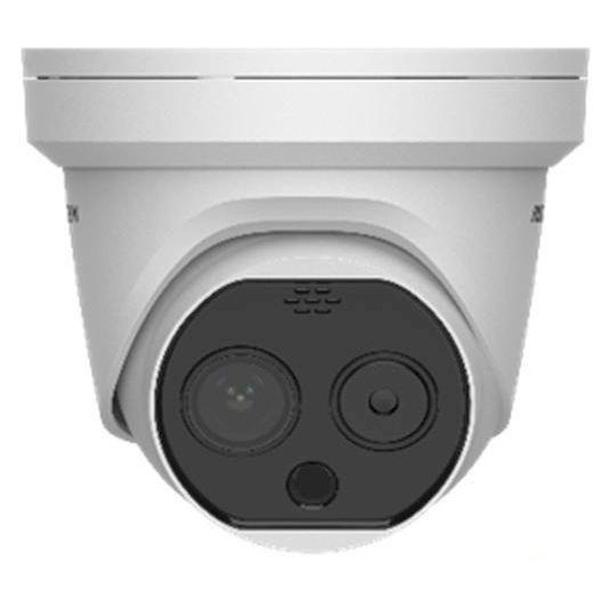 Detecteer gemakkelijk temperatuurverhogingen met een Hikvision warmtebeeldcamera turret! Meet temperaturen op een veilige afstand.