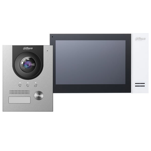 Dahua Video Intercom Set KTP01 inkl. PoE-Schalter, VTO2202F-P und VTH2421FW-P Innenstation
