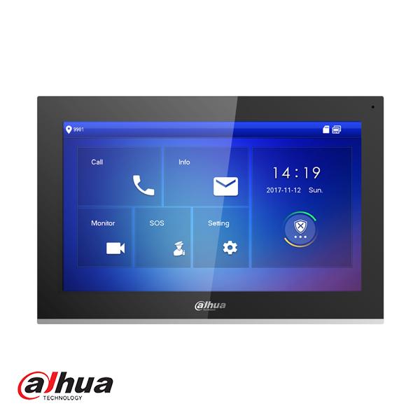 VTH5441G Binnenpost, 10 inch touch screen, Full HD, intern geheugen 8GB SD, SIP, PoE