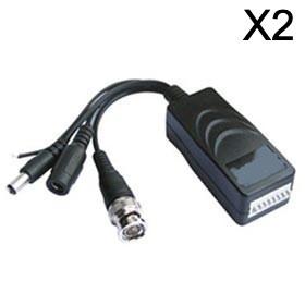 Este balun de video es un conjunto de balun que consta de dos dispositivos sin alimentación que convierten las señales BNC y luego las envían a través de un cable de datos / UTP, además de suministrar directamente la alimentación a la cámara. En el otro e