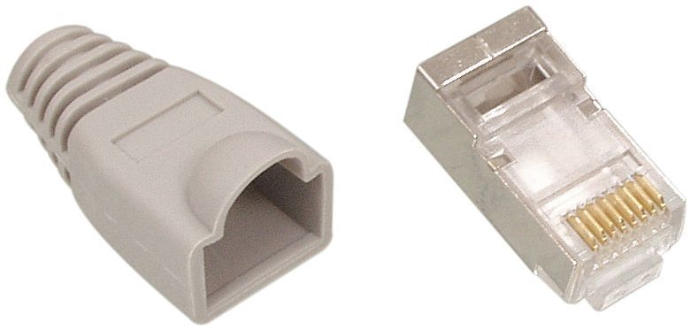 RJ45 CAT6 UTP Stecker + Hülse.