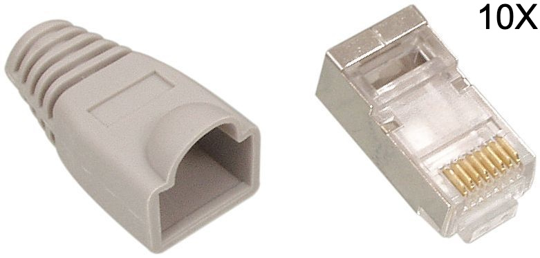 Spina + manicotto RJ45 CAT6 UTP.