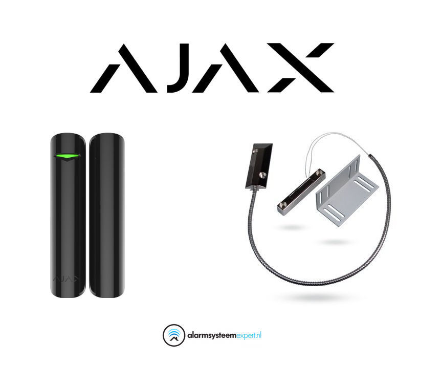 With this product you can easily protect a garage door against unauthorized opening with a special floor contact and Ajax doorprotect. You can connect and add this to your Ajax system. Attached is an image with simple installation instructions.