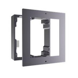 Surface-mounted frame for modular intercom.